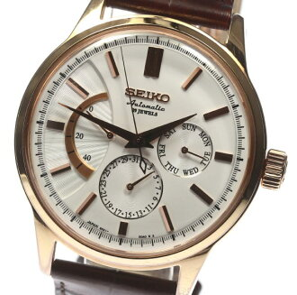 SEIKO mechanical SARC018 6R21 outside a company building leather belt AT men◎