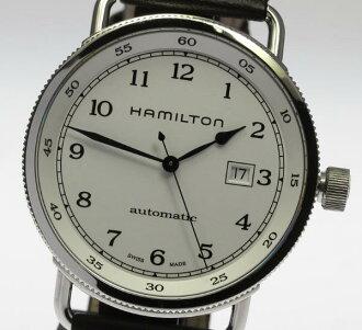 ★Beautiful article ★ HAMILTON Hamilton pioneer H777150 white clockface self-winding watch men