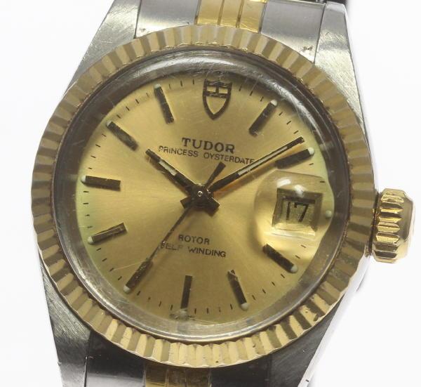 チュードル プリンセス オイスターデイト 92413N 自動巻き Cal.2671 アンティーク レディース腕時計【18015】【中古】