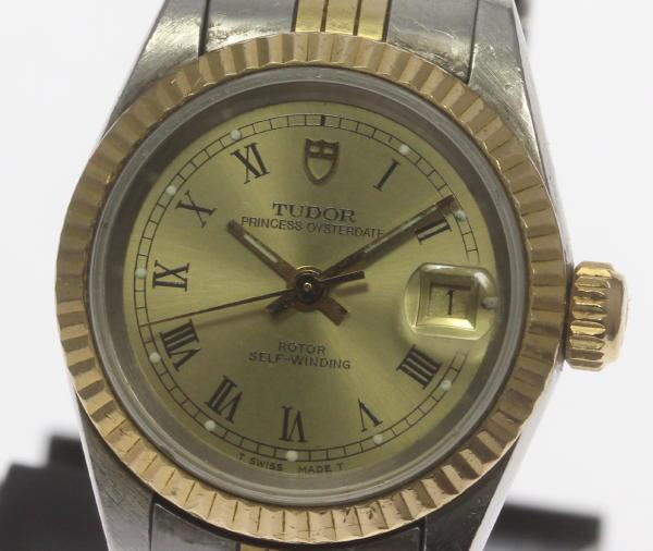 保証書付 チュードル プリンセス オイスターデイト 92413 自動巻き Cal.2671 レディース腕時計【中古】