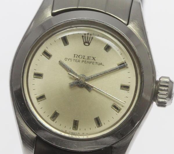【ROLEX】ロレックス オイスターパーペチュアル 6618 cal.1161 自動巻き レディース アンティーク【中古】