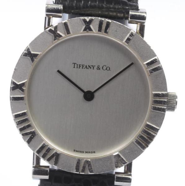【TIFFANY&Co.】ティファニー アトラス M0640 SV925 QZ 純正革ベルト メンズ【17075】【中古】