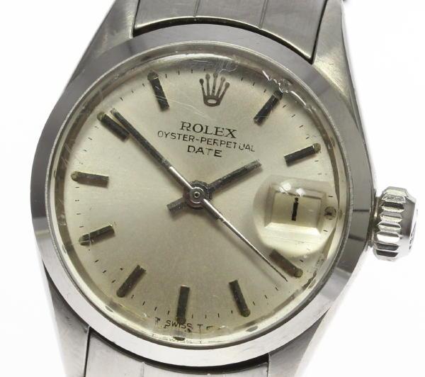 【ROLEX】ロレックス オイスターパーペチュアル デイト 6516 Cal.1161 自動巻き レディース【中古】【170604】