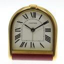 ※訳あり 【CARTIER】カルティエ アラームクロック 金色 クォーツ 置時計◆【中古】【170617】