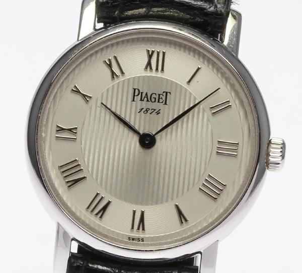 【PIAGET】 ピアジェ 80005 K18WG 125周年記念モデル 社外革ベルト クォーツ レディース腕時計 ◆【中古】
