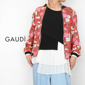 【送料無料】GAUDi(ガウディ)花柄ブルゾン(花柄 レッド レディース)011BD35021