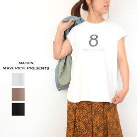 MAISON MAVERICK PRESENTS(メゾンマーベリックプレゼンツ)配色ノースリーブトップス(Tシャツ ノースリーブ 素材配色 レディース)MM200-0674