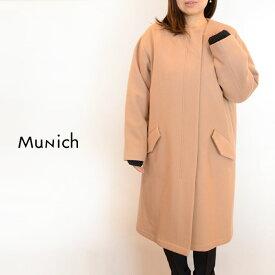 【送料無料】Munich (ミューニック)super 100's light melton military coatMN182C24[コート ウール モッズ レディース]