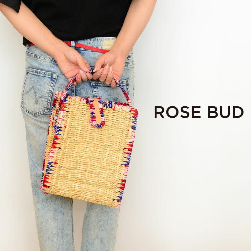 ROSE BUD(ローズバッド)EN SHAllA 8161042(ラフィア カゴバッグ レディース)