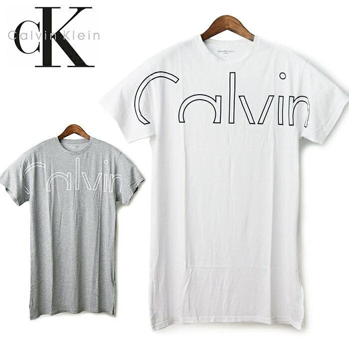 【ゆうパケット送料無料(ポスト投函)】 Calvin Klein Jeans カルバンクラインジーンズ レディース ロング丈Tシャツ ビッグロゴ プリント BOXY LONG LOGO TEE/半袖ロングTシャツ Calvin Klein ロゴTシャツ CKロゴ ワンピースTシャツ チュニック 42AK966