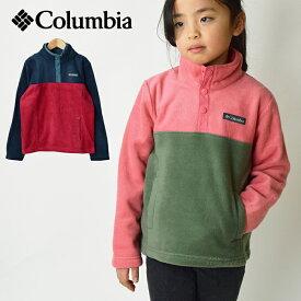 COLUMBIA コロンビア スティーンズマウンテン 1/4スナップフリースプルオーバー キッズ ジャケット (120cm〜155cm)/キッズ用 ジュニア用 アウター スナップボタン 子供用 男の子用 女の子用 フリース素材 AY0154