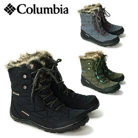 【26%OFF】 COLUMBIA コロンビア ミンクスショーティー3 ブーツ/レディース ショートブーツ ボア付き ファー付き ウィンターブーツ レースアップブーツ 靴 保温 防水 防寒 (BL5961)