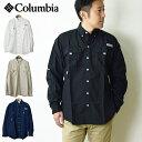 【10%OFF】 COLUMBIA コロンビア バハマIIロングスリーブシャツ/メンズ フィッシングシャツ 長袖シャツ UVカット 紫…
