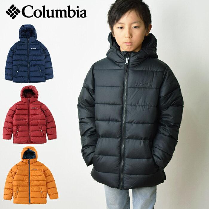 【15%OFF】【送料無料】 COLUMBIA コロンビア ビッグパフジャケット/キッズ用 中綿ジャケット フード付き アウター 子供用 男の子用 女の子用 防寒 (WB1026)