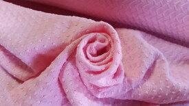 送料無料 ラッセル ジャガード 希少 生地 ピンク 97cm巾×1m 昭和 ヴィンテージ 日本製