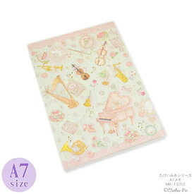 たけいみき A7メモ ミュージック・MEMO・メモ帳・かわいい クローズピン メール便OK ◆後払い不可◆
