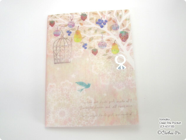 Tomoko Hayashi・トモコ クリアファイルポケット・Clear File Pocket (Ring) メール便不可◆宅配便発送指定商品 クローズピン ClothesPin