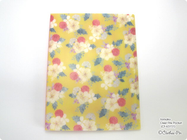 Tomoko Hayashi・トモコ クリアファイルポケット・Clear File Pocket (Berry) メール便不可◆宅配便発送指定商品 クローズピン ClothesPin