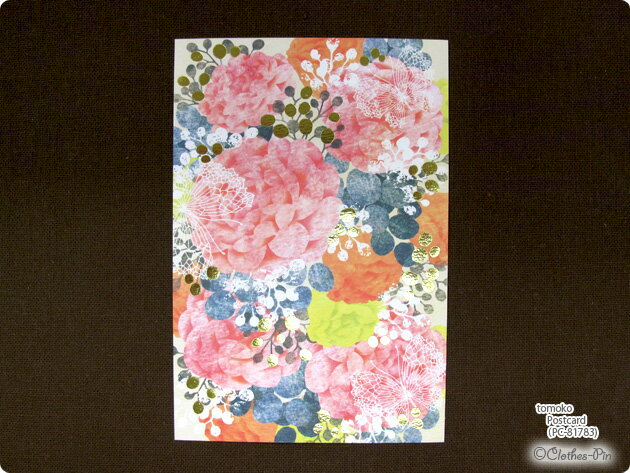 Tomoko Hayashi・トモコ ポストカード イラスト・はがき・Post Card・葉書・おしゃれ・大人 クローズピン ClothesPin メール便OK
