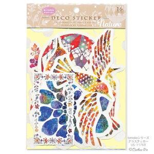 Tomoko Hayashi・トモコ・Nature デコステッカー16枚入り 貼ってはがせるタイプ クローズピン メール便なら送料無料・ゆうメール