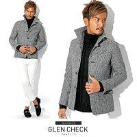 キャメル・イタリアンカラー・ジャケット・コート・メンズ・ファッション・秋・ファッション