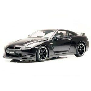 ダイキャスト・モデルカー 1/18 ニッサン GT-R R35 スペックV [アルティメイト オパール ブラック]