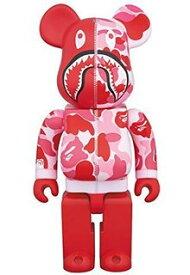 BE@RBRICK BAPE(R) CAMO SHARK 400% ピンク Medicom Toy 新品