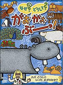 NHK-DVD なぜ?どうして? がおがおぶーっ! カバ どうして いつも みずのなか? 室井滋 新品