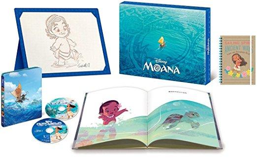 【Amazon.co.jp限定】 モアナと伝説の海 MovieNEXプレミアム・ファンBOX [ブルーレイ+DVD+デジタルコピー(クラウド対応)+MovieNEXワールド] (オリジナルB6リングノート付) [Blu-ray]新品 マルチレンズクリーナー付き