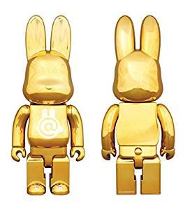 1/6計画限定 R@BBRICK Chrome Gold 400% MEDICOM TOY(メディコムトイ) 新品