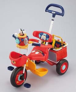 ポップンカーゴ三輪車 ミッキーマウス レッド アイデス 新品