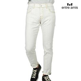 アントレアミ entre amis P18GAGA/1335 WHITE ガガ デニムパンツ ジーンズ ジーパン ストレッチ スリムフィット ジップフライ ホワイト 白 メンズ【送料無料】