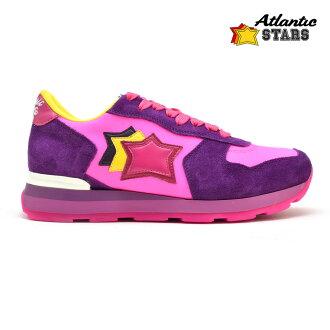 大西洋明星维加Atrantic STARS VEGA PFF-59B TRICOLOR PURPLE PINK三色旗紫粉红紫色女士运动鞋意大利