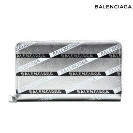 バレンシアガ BALENCIAGA 551935 00T0N/1480 WALLET ラウンドファスナー長財布 ロングウォレット 財布 小銭入れ付き レザー 本革 シルバー メンズ レディース【送料無料】