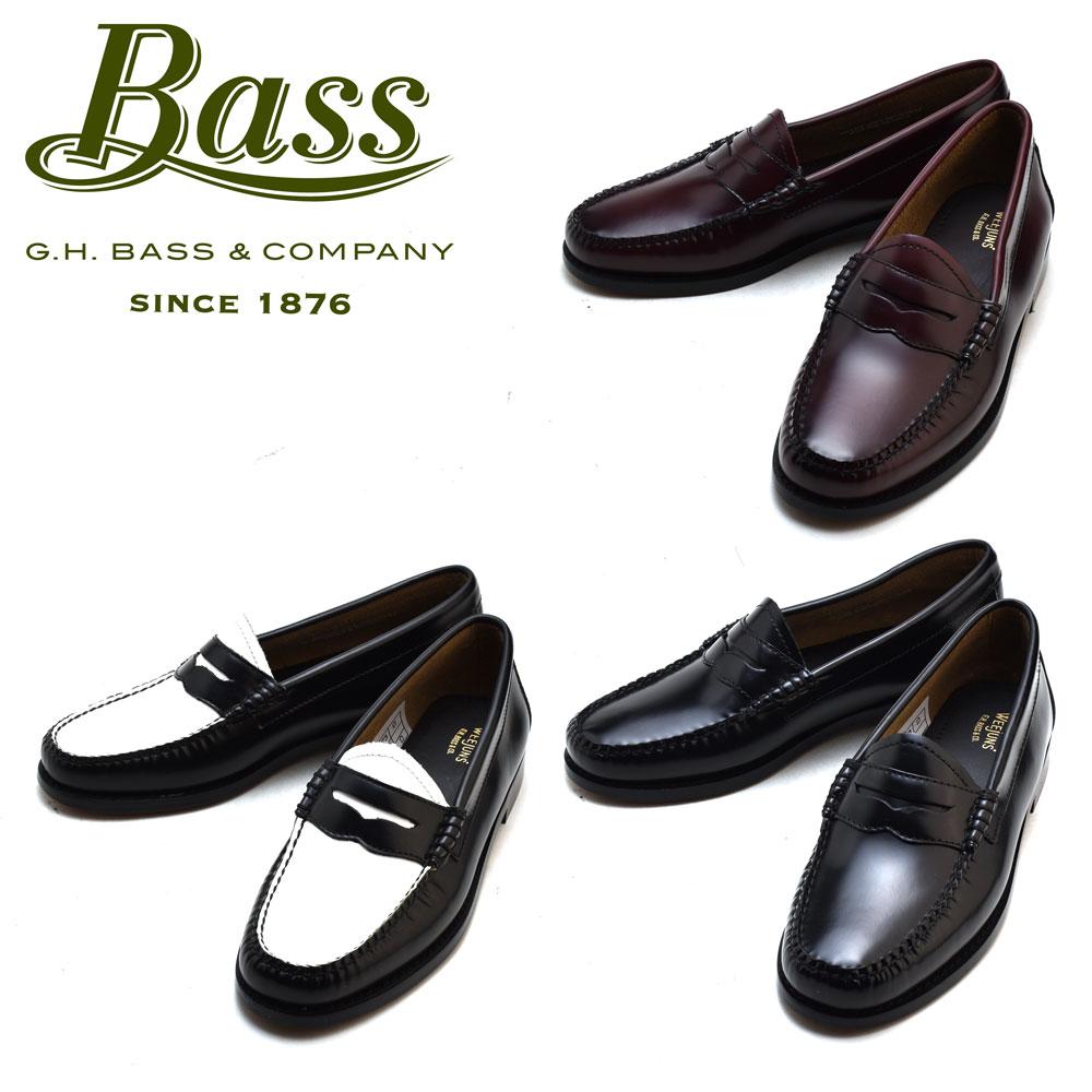 G.H BASS PENNY BLACK WHITE WINE G.H.BASS G.H.バス ペニー ブラック ホワイト ワイン ローファー 革靴 【送料無料】