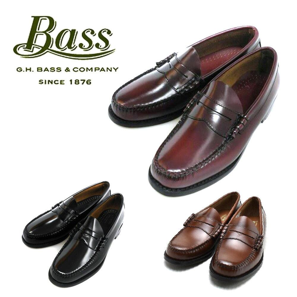 G.H BASS LARSON 490273 バス ラーソン ブラック ワイン ミッドブラウン バーガンディ 【送料無料】