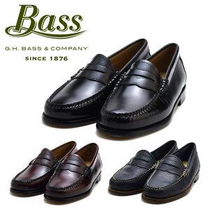 gh bass ローファー レディース WHITNEY G.H.バス ホイットニー ブラック バーガンディー コードバン ネイビー 革靴