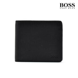 ヒューゴボス HUGOBOSS 50397485 001 WALLET BLACK 二つ折り財布 コンパクトウォレット ブラック 黒 メンズ【送料無料】