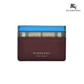 バーバリー BURBERRY 4065209 BRIGHTBLUE ヘイマーケットチェック カードケース カードホルダー パスケース 名刺入れ レディース メンズ【送料無料】