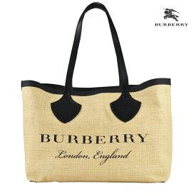 バーバリー BURBERRY 4072502 BAG BEIGE BLACK トートバッグ ミディアム ジャイアントトート グラフィックプリント ジュート ベージュ ブラック 黒レディース【送料無料】