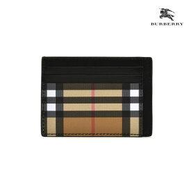 バーバリー BURBERRY 4074442 BLACK CARDCASE カードケース パスケース ノバチェック ブラック 黒 メンズ【送料無料】