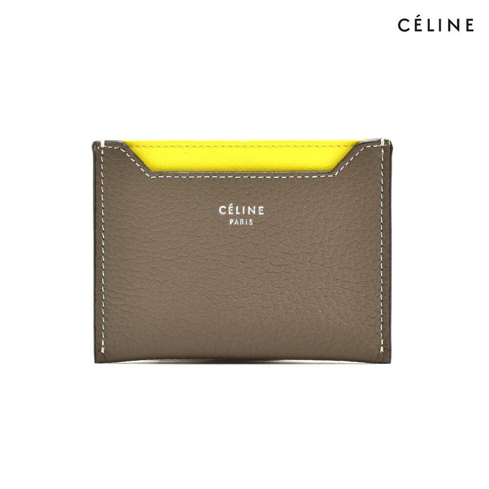 セリーヌ CELINE 10781 3AFE/09SO カードケース ベージュ ドラムドカーフ レディース【送料無料】