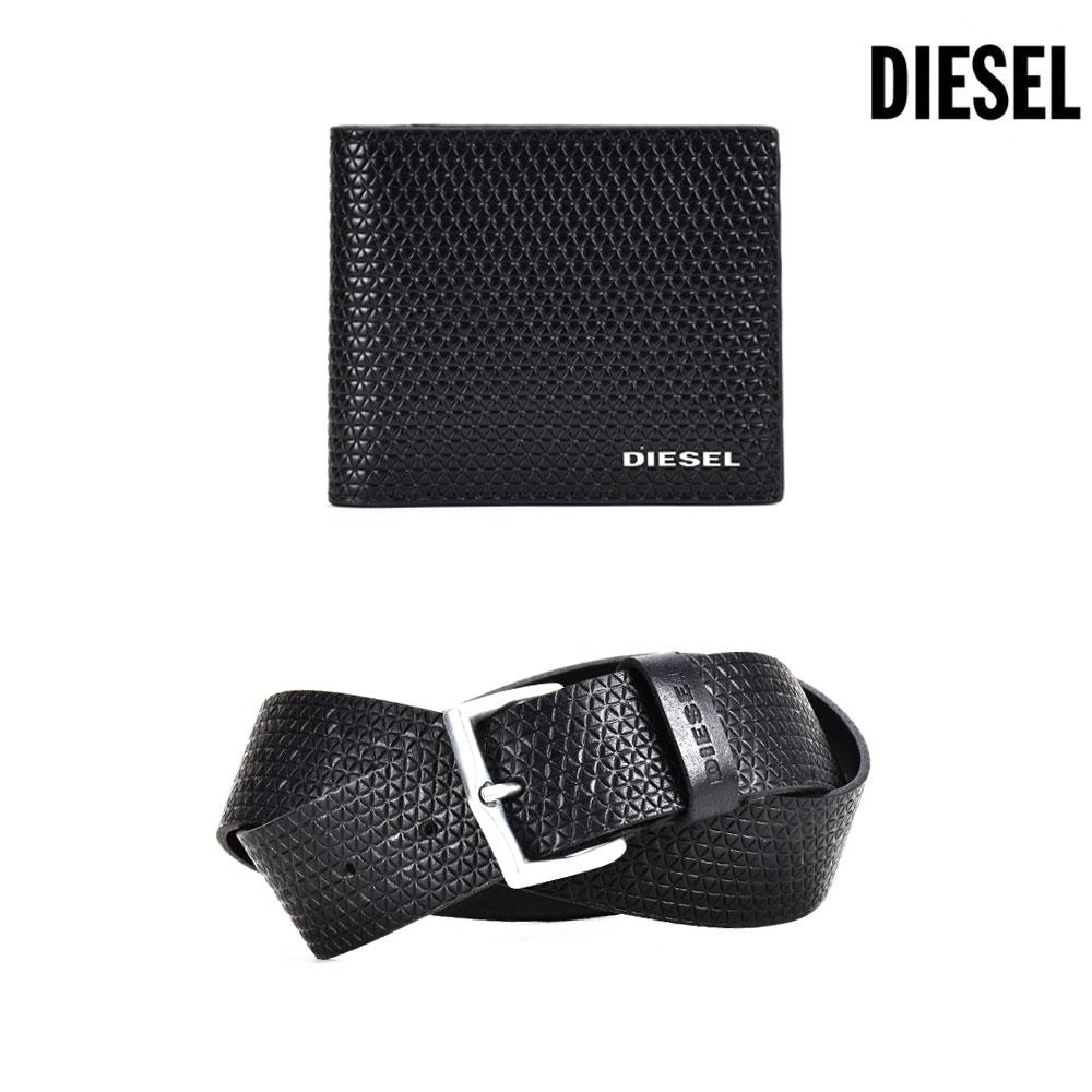 ディーゼル DIESEL STERLING BOX X04441/PR400 スターリングボックス 二つ折り財布 ベルト ギフト セット メンズ 【送料無料】[disel-0131]
