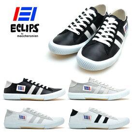 ECLIPS エクリプス 42003 マカロニアン maccheronian メンズ レディース スニーカー 白 黒 ホワイト ブラック【送料無料】