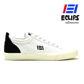 エクリプス ECLIPS マカロニアン 42010 ローカット スニーカー ホワイト ブラック レディース メンズ【送料無料】