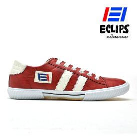 【エントリーでP3倍 12月14日9:59まで】スニーカー メンズ レッド ホワイト 赤 白 エクリプス マカロニアン 靴 シューズ 42013 ECLIPS[po_10]
