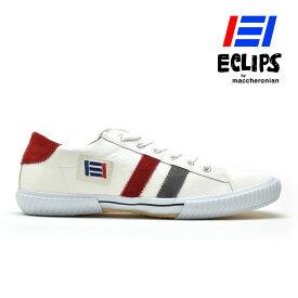 【エントリーでP3倍 12月14日9:59まで】スニーカー メンズ ホワイト グレー レッド 白 黄 青 エクリプス マカロニアン 靴 シューズ 42013 ECLIPS[po_10]