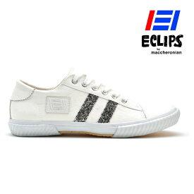 エクリプス ECLIPS マカロニアン 42013 ホワイト シルバー ローカット スニーカー レディース【送料無料】