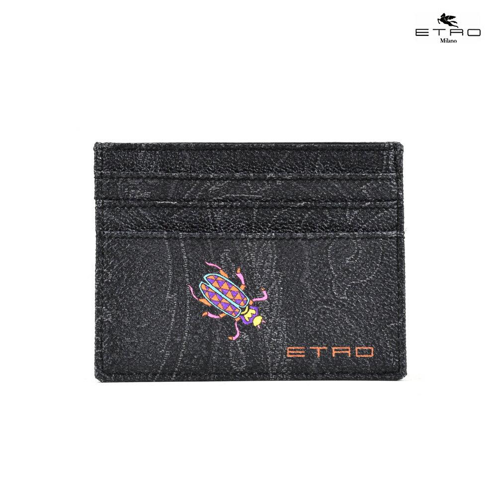 エトロ ETRO 1F553 2263/001 SLG カードケース 名刺入れ パスケース 昆虫モチーフ レディース