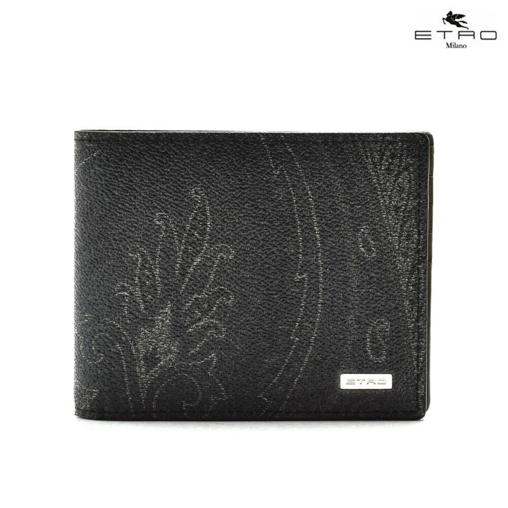 エトロ ETRO 1F557 8238/1 二つ折り財布 ブラック 黒 BLACK メンズ【送料無料】